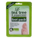 Xpel Tea Tree Tea Tree & Peppermint Deep Moisturising Foot Pack Krem do stóp dla kobiet 1 szt