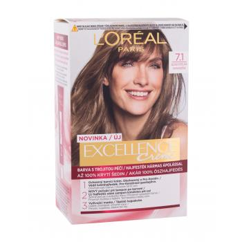 L´Oréal Paris Excellence Creme Triple Protection Farba do włosów dla kobiet 48 ml Odcień 7,1 Natural Ash Blonde
