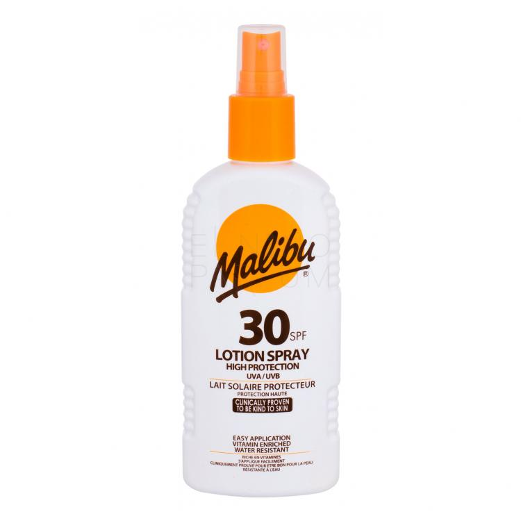 Malibu Lotion Spray SPF30 Preparat do opalania ciała 200 ml