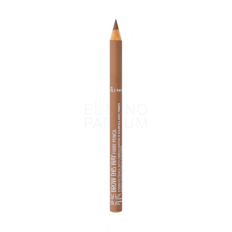 Rimmel London Brow This Way Fibre Pencil Kredka do brwi dla kobiet 1,08 g Odcień 001 Light