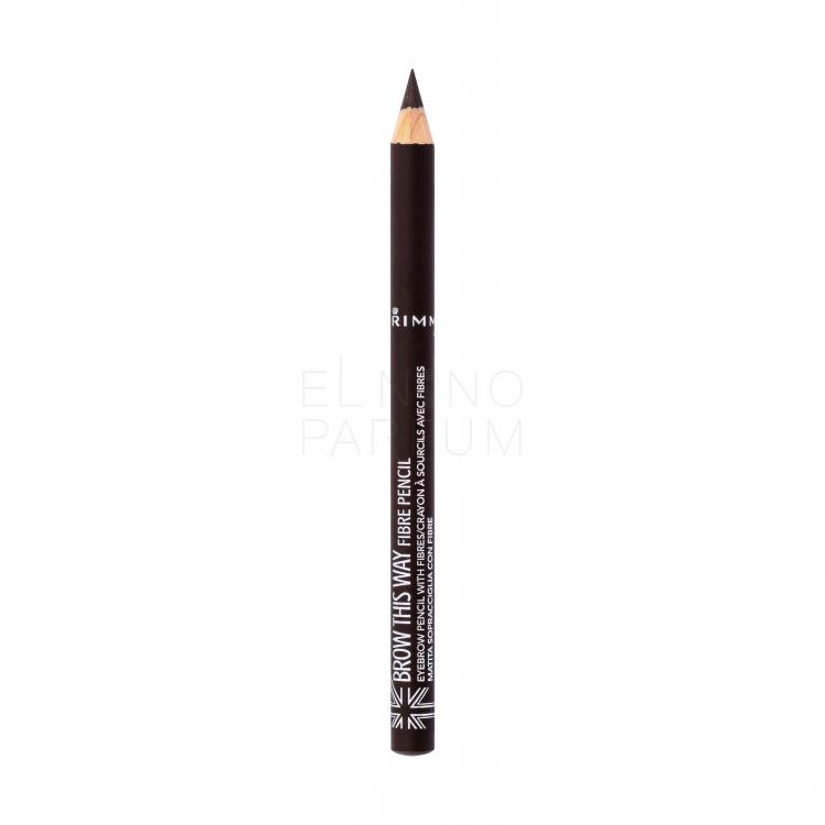 Rimmel London Brow This Way Fibre Pencil Kredka do brwi dla kobiet 1,08 g Odcień 003 Dark