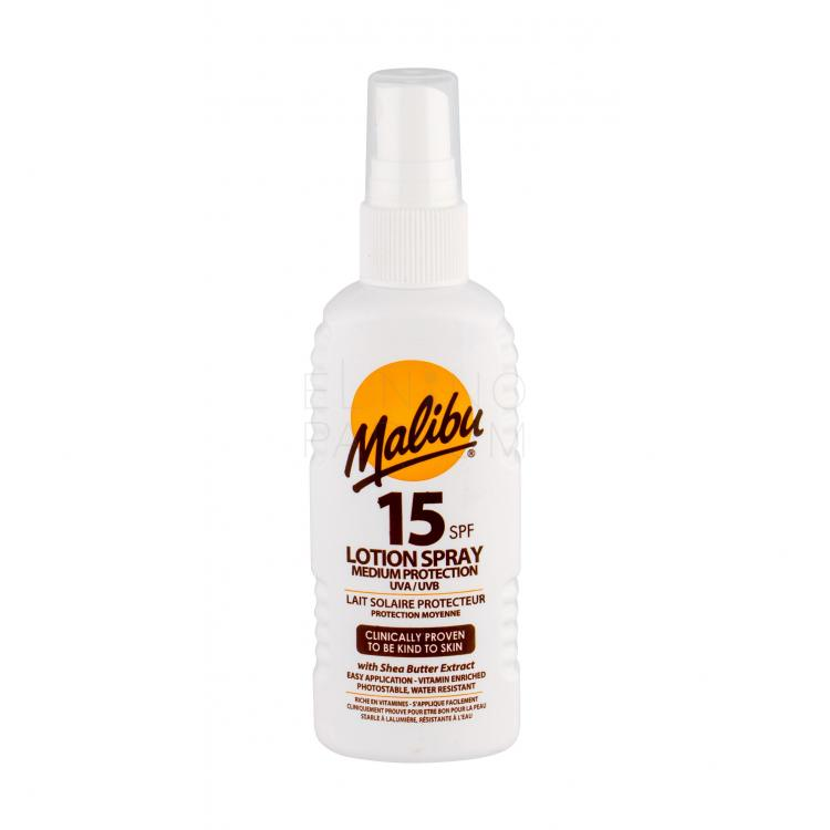Malibu Lotion Spray SPF15 Preparat do opalania ciała 100 ml