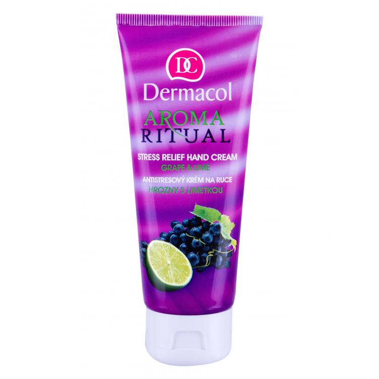 Dermacol Aroma Ritual Grape & Lime Krem do rąk dla kobiet 100 ml
