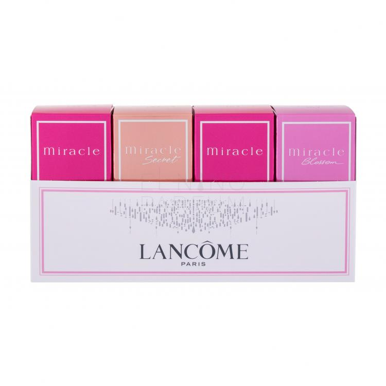 Lancôme Miracle Collection Zestaw dla kobiet Edp Miracle 2x 5 ml + Edp Miracle Secret 5 ml + Edp Miracle Blossom 5 ml