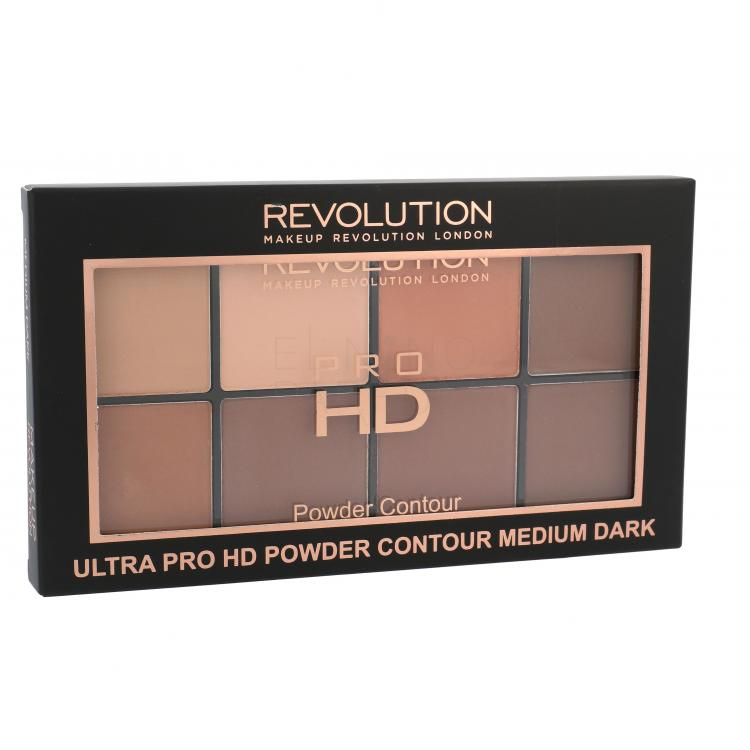 Makeup Revolution London Ultra Pro HD Powder Contour Palette Puder dla kobiet